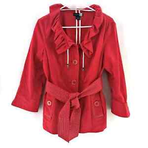 Saks Fifth Avenue (real) Coral Trench Jacket