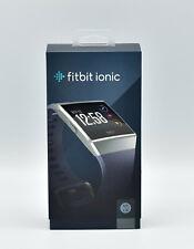 FITBIT Ionic Fitness Smartwatch Aluminium Elastomer, S/L, Blue-Gray NEU OVP