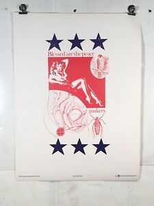 Vintage Poster Protest Anti War Art 1967 Blessed Political Happening Press Weege