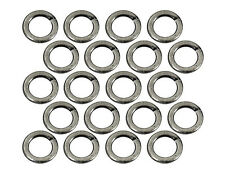 (20) Antique Silver Plated Open Jump Rings 4mm Diameter 20 Gauge Jewelry Wire