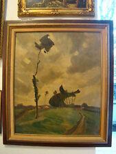 """Du fils de Chabanian huile sur toile intitulée """" L'arbre solitaire """" 65 x 45 cm"""
