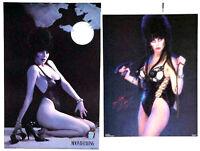 Original Elvira Poster Set of 2- Moonbathing & Yours Cruely- Vintage- Rolled