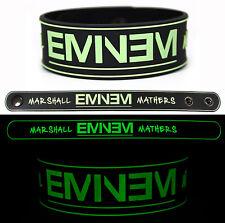 EMINEM Rubber Bracelet Wristband The Marshall Mathers Glows in the Dark