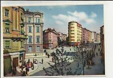 vecchia e interessante cartolina di trieste viale sidney sonnino con persone