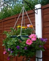 6 X HANGING BASKET BRACKETS FOR CONCRETE POST HOLDS EASY FILL BASKETS H POST