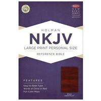 Large Print Personal Size Reference Bible-NKJV (Leather / Fine Binding)