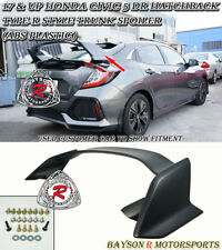 Type-R Style Rear Trunk Spoiler Wing (ABS) Fits 17-18 Civic 5dr Hatchback