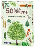 Moses MOS09716 - Expedition Natur: 50 heimische Bäume, Lernkarten entdecken & b