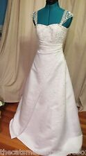 Wedding Dress 2009 David Bridal Michelangelo Designer Size 4 with Accessories
