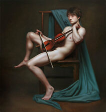 """24"""" large original TOP ART # NUDE MAN MALE GAY ART PRINT oil painting on canvas"""