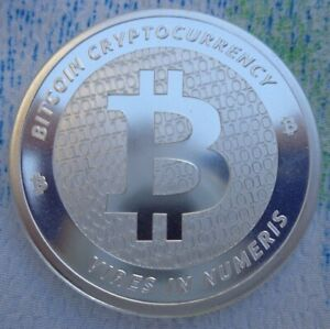 1 oz. BITCOIN Cryptocurrency rounds .999 fine silver