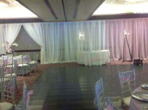 "Pink Blush Wedding backdrop drapes sheer 6 to 11 ft x 114"" Room divider"