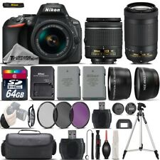 Nikon D5600 Digital SLR Camera + 18-55mm VR + Nikon AF P 70-300mm VR + EXT BATT
