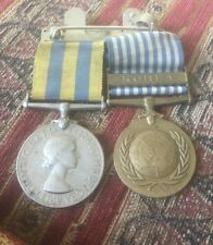 British Military medal Korea pair issued to Royal Scots Pte Horsburgh on bar