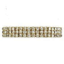 Goldtone chiaro strass braccialetto elastico GLITZY GLAMOUR Prom gioielli 250-4