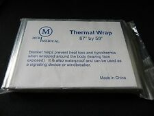 2 - Silver Emergency Thermal Wraps - (Space Blanket) - Prevents Hypothermia