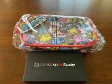 Hello Kitty Sanrio Zip Pouch Makeup case + Loot Crate Exclusive Keychain