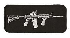 Patch écusson patche M16 mitraillette Rifle gun armée brodé