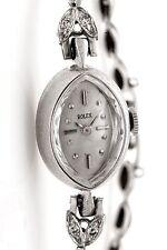 Vintage 1940s Genuine ROLEX Marquis SHAPE Diamond 14k Gold Ladies Watch BOX WTY