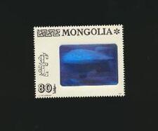 MONGOLIA #2139 Mint NH Single 3D Hologram  ZEPPELIN  DIRIGIBLE BLIMP