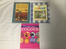 3x Colour Scheming & Decorating Books New Handbook 100 Ideas for Colour YourHome