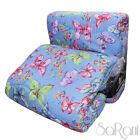 Edredón De Primavera Cubrecama Moderno Doble Azul Cielo Mariposas De Colores