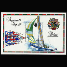Belize, Sc #862, MNH, 1987, S/S Boats, Amerca's Cup, A5TAIcx