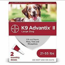 Bayer K9 Advantix Ii Flea & Tick Spot Treatment for Dogs, 21-55 lbs 2 Pack Free