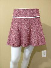KENAR Women's Burgundy/White Knit Flared Skirt - Size Medium - NWT