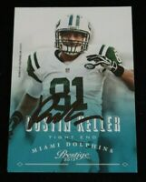 Authentic Autographed Football Card Dustin Keller Purdue