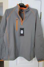 Weather Apparel Company Men's  1/4 Zip Pullover - XL Gray/Orange NWT