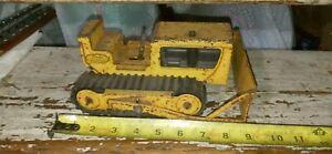 Vintage RARE 1962 Tonka #300.Pressed Steel Yellow Bulldozer