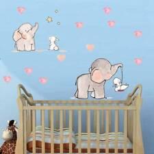 Baby Room Animal Elephant Rabbit Vinyl Wall Sticker Nursery Decals Decors