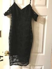 NWT Guess Off The Shoulder Black Lace Dress Size 4