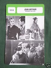 JEAN ARTHUR - MOVIE STAR - FILM TRADE CARD - FRENCH -#1