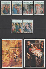 Sierra Leone Sc 1926-1933 MNH. 1996 Christmas Religious Paintings + Souv Sheets