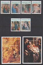 Sierra Leone Sc 1926-1933 MNH. 1996 Christmas Religious Paintings + Souv Sheets