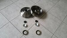 FORD FUSION  02--  TW0 REAR BRAKE DRUMS FITTED BEARINGS,ABS RING & LOCK NUTS