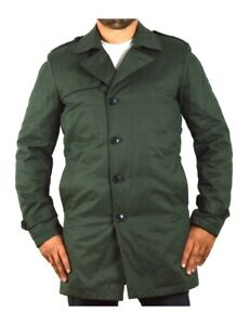 SELECTED HOMME trench uomo verde con bottoni