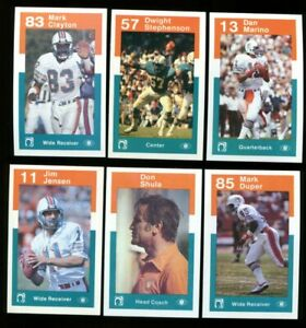 1984 DOLPHINS POLICE FOOTBALL COMPLETE SET MINT W/DAN MARINO RC *INV6447