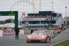 Christensen, Estre Hand Signed Porsche 911 12x8 Photo 2018 Le Mans 1.
