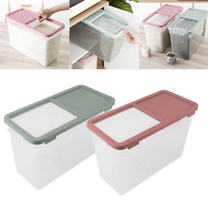 10KG Large Rice Storage Box Food Cereal Container Keep Flour Grain Dry Case UK