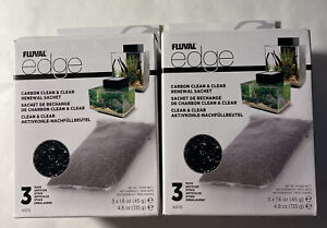 Fluval Edge Carbon Renewal Sachets (3 Pack) New in Box: 2 Pack Free Shipping