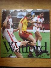 10/11/1981 Watford v Lincoln City [Football League Cup] (Faint Marks)