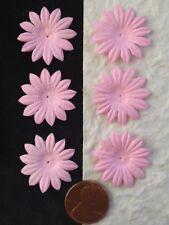 20 Pink Handmade mulberry paper flowers daisy daisies petals wedding scrapbook