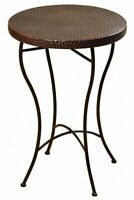 Stylecraft Home Collection SF2233DS 23 Inch Accent TableBronze Powder Coat