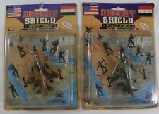 LOT OF 2 DESERT SHIELD PEACE FORCE F-16 ARMY MEN RACK TOYS (1990) SEALED!