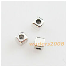 120 New Charms Tibetan Silver Tone Tiny Square Spacer Beads 2.5mm