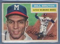 1956 Topps #185 Bill Bruton (GB) EX    GO98