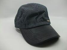 Kangol Badge Hat Blue White Pinstripe Strapback Baseball Cap